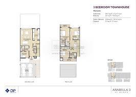 Town House Floor Plans Floor Plans Arabella Townhouses Dubai Land By Dubai Properties
