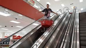 black friday 15 at target shopping cart surfing on escalators at target youtube