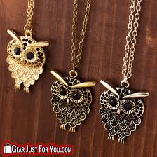 long owl pendant necklace images Best vintage old glamour long chain owl pendant necklace gear png