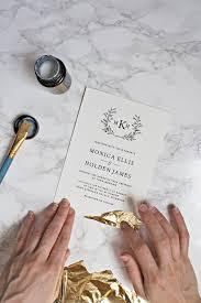 wedding invitations gold foil gold leaf wedding invitations pipkin paper company
