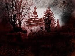 gothic dark art red graveyard picture nr 53310