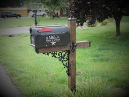 and wood wrought iron mailbox accessory kit to decorate a standard mailbox