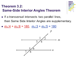 Same Side Interior Angles Postulate 3 2 Properties Of Parallel Lines Objectives Tsw U2026 Use The