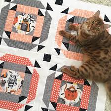 Halloween Cat Fabric Little Spooks Quilt A Five Fat Quarter Fun Quilt
