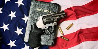 Flag With Bible Guns For Jesus