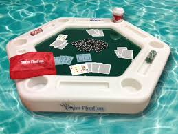 floating table for pool custom plastics rotomolder introduces floating poker table for