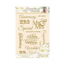 sara davies signature together forever clear stamps special day