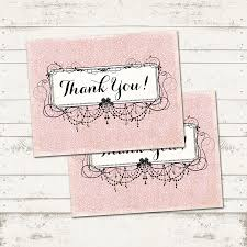 Shabby Chic Online Stores by Valerie Pullam Designs Thank You Postcards Shabby Chic
