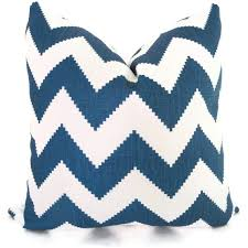 Throw Pillows by Jonathan Adler Marine Blue Chevron Decorative Pillow Cover