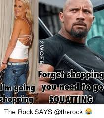 The Rock Gym Memes - 25 best memes about squating squating memes