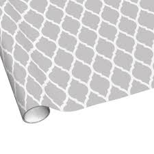 gray wrapping paper gray and white chic moroccan lattice gift wrapping paper pattern