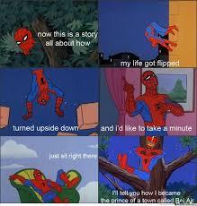 Bel Air Meme - fresh spiderman of bel air meme by animephile memedroid