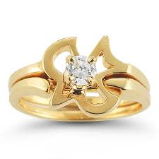 gold wedding rings sets christian dove diamond engagement and wedding ring set in 14k
