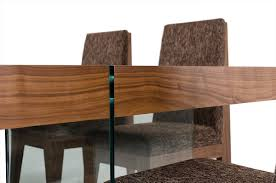 Walnut Dining Room Chairs Aura Contemporary Walnut Floating Dining Table