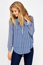 striped blouse sheer blue striped blouse just 5
