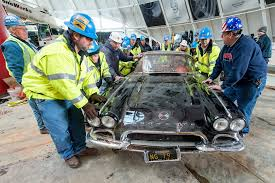 lifted corvette third corvette removed from museum sinkhole autoevolution