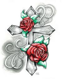 beautiful drawing and cross design tattoomagz