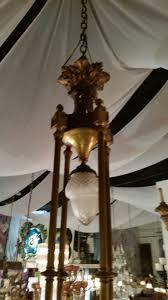 Aged Brass Chandelier Antique Brass Chandelier With Cut Crystal Bowls Modernism