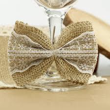 aliexpress com buy 100 pieces pack hessian burlap lace bows