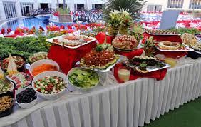 buffet mariage un buffet ou un repas servi pour la réception de mariage