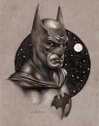batman realistic sketch drawing art library