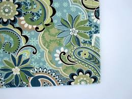 Blue Curtain Valance Forest Glen Valance Curtains Blue Green Teal Brown By Bananabunch