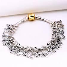 pandora jewelry silver bracelet images Sterling silver letter accessory fits pandora charm bracelet jpg