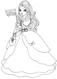 holly poppy hair image coloring pages