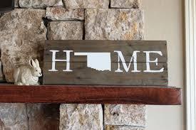 oklahoma wood oklahoma home reclaimed wood sign ok sign oklahoma artwork