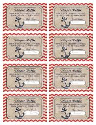 raffle baby shower nautical baby shower raffle tickets