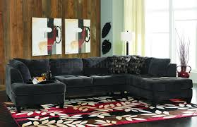 Black Fabric Sectional Sofas Inspiring Chaise Sectional Sofa 98 In Black Fabric