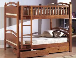 adorable beige wall brown bedding built and twin over queen bunk