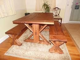 kent dining table trestle x farmhouse reclaimed wood custom