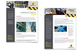Construction Sheets Template by Industrial Commercial Construction Datasheet Template Word