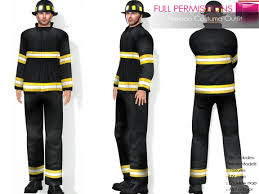 fireman costume second marketplace perm mesh fireman costume