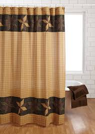 Rustic Shower Curtains Amherst Shower Curtain Primitive Black Gold Brown Cabin