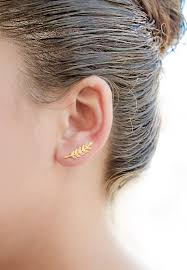 ear cuffs for sale philippines leaves ear climbers sterling silver gold plated leaves ear