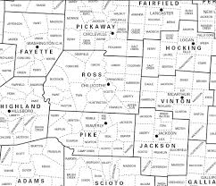 Map Ohio Counties by Raymond D Shasteen Genealogy Shasteens In Ross County Ohio