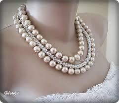 pearl necklace accessories images Bridal lette pearl necklace rhinestone accessories chic jpg