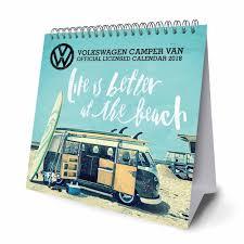 volkswagen van 2018 volkswagen campers easel calendar 2018 calendar club uk