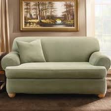 sure fit striped t cushion loveseat slipcover sofa slipcovers