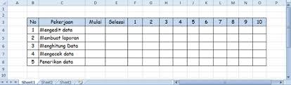 tips membuat jadwal kegiatan harian cara mudah membuat jadwal pekerjaan dengan excel
