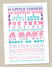 baby shower invitation words pink teal blue by miragreetings