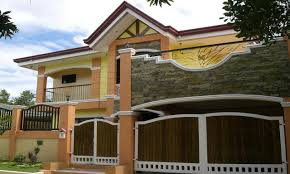 exterior house paint colors on philippines house gate design