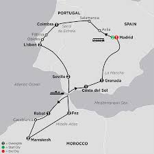 Morocco Africa Map by Tours To Morocco Spain U0026 Portugal Cosmos Budget Tours