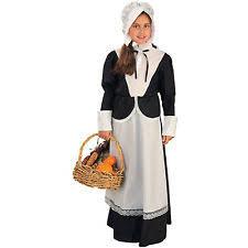 pilgrim child costume thanksgiving bonnet apron size small 4