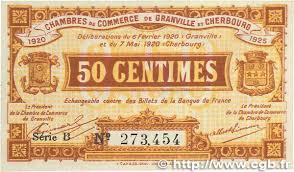 chambre de commerce granville 50 centimes regionalism and miscellaneous granville et