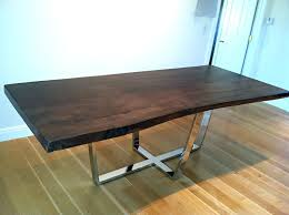 Diy Industrial Dining Room Table Metal Dining Table Base Stunning On Dining Room Table With