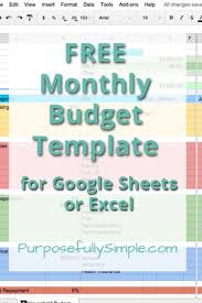 Microsoft Excel Monthly Budget Template Best 25 Monthly Budget Template Ideas On Family