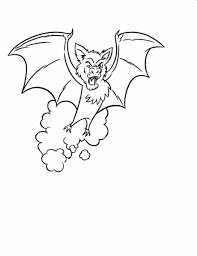 coloring page halloween free printable pages bat bats coloring